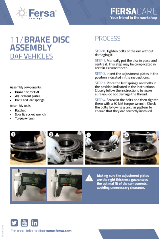 Informative capsules XII: Brake disc assembly for DAF vehicles