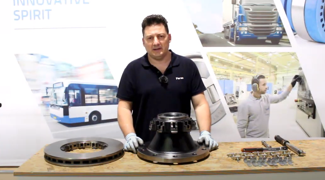 Tutorial video: brake disc assembly for DAF vehicles on a Fersa hub