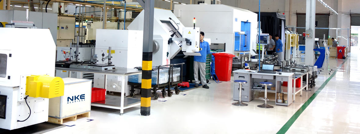 Our new production line in Jiaxing now manufactures large bearings.